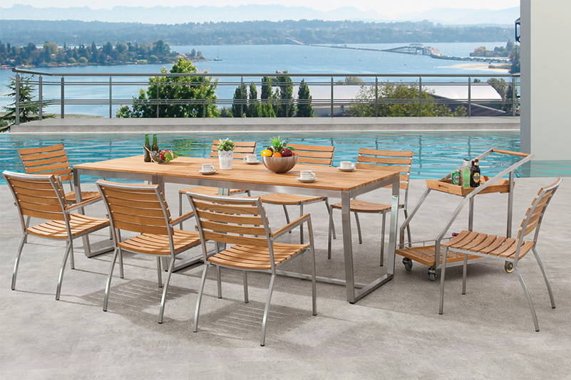 Teak Stainless Steel Outdoor Furniture