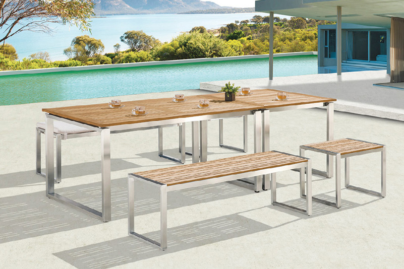Products CHAIR & TABLE FSC Teak and Stainless Steel