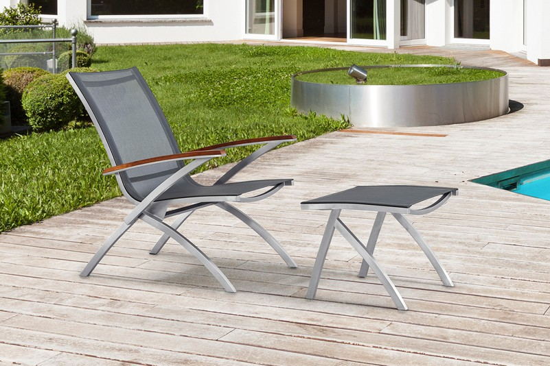 Leisure Outdoor Stainless Steel Mesh Fabric Chair Set