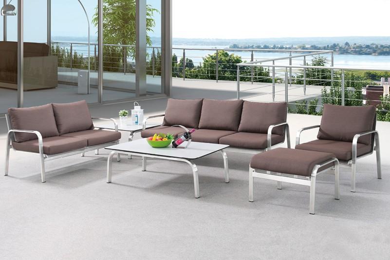 Simple Design Garden Stainless Steel Sofa Set